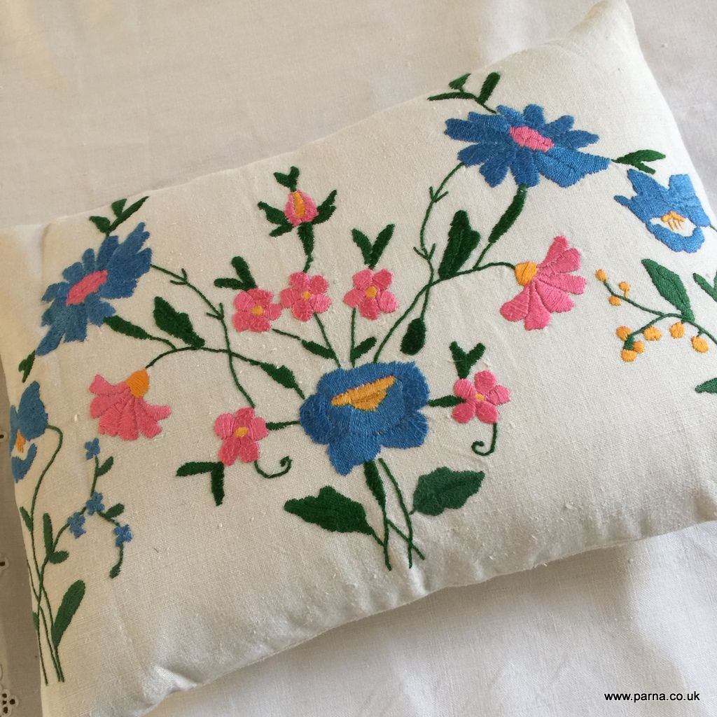 Cushion Cover From Vintage Embroidery