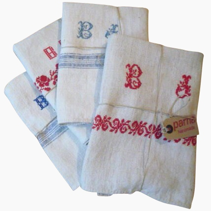 Vintage Linen Tea Towels and Napkins